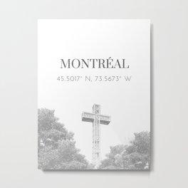 Montréal Coordinates Metal Print