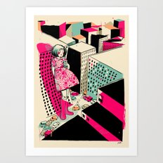 GIANTS! Girl  Art Print