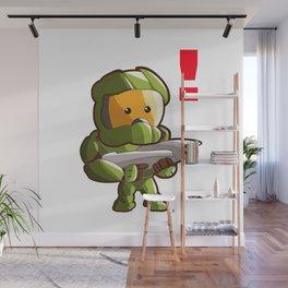 Halo Master Chief Kawaii Wall Mural