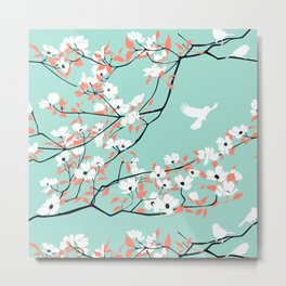 Blossoms on a mint day Metal Print