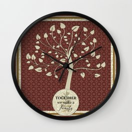 Together We Make A Family Wall Clock