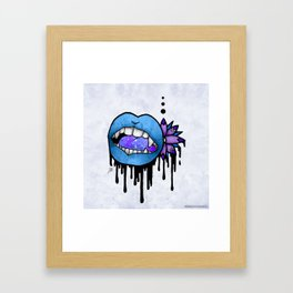 Angel Vampire Kiss Framed Art Print