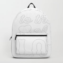 FALLING IN LOVE TO THE BEAT OF THE MUSIC RACERBACK TANK Backpack