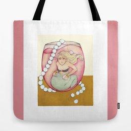 Wine Mermaid Tote Bag