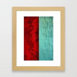 Fabric Ocean Framed Art Print