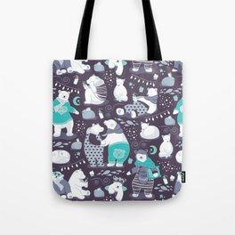 Arctic bear pajamas party Tote Bag