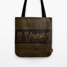 Ancient Sparta  Greece scene on greek pattern Tote Bag