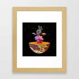 Peace Planet Framed Art Print