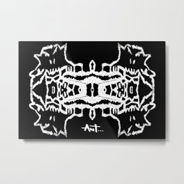 ghost white Metal Print