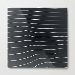 Striped lines Metal Print