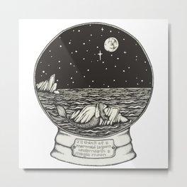 Mermaid Snow Globe Metal Print