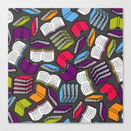 So Many Colorful Books... Canvas Print