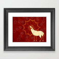 Sun Oryx Framed Art Print