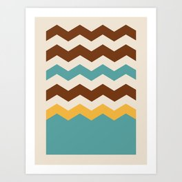 Geometric Chevron Colors 4 Art Print
