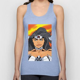 NEW 52! W. WOMAN READY FOR A FIGHT Unisex Tank Top