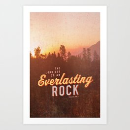 Everlasting Rock Art Print