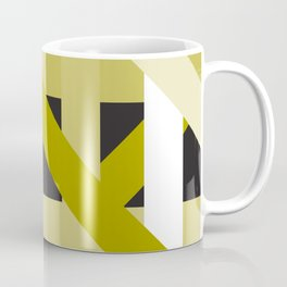 Gold Structural Lines Pattern Coffee Mug