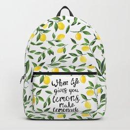 When Life gives you Lemons, make Lemonade Backpack