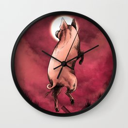 Chinese Zodiac: The Pig Wall Clock