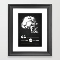 Dead or alive Framed Art Print