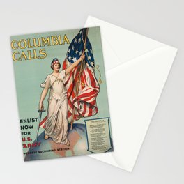 Columbia Calls - Enlist Now Stationery Cards