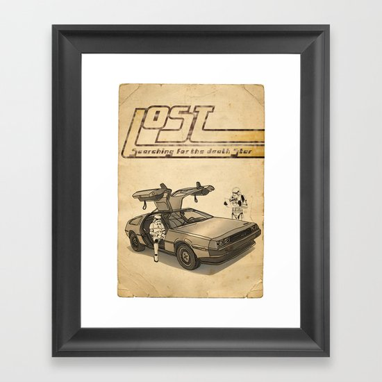 LOST Framed Art Print