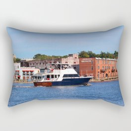 Sightseeing From Boat Rectangular Pillow