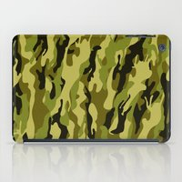 camouflage iPad Cases featuring Camouflage by Texnotropio