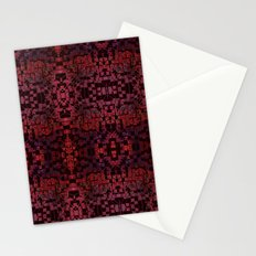 Electric Red Cubes  Stationery Cards