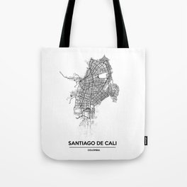City map // Cali Colombia Tote Bag