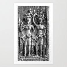 Cambodian Erotic Goddesses Art Print