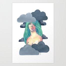 Gray Cluds Art Print