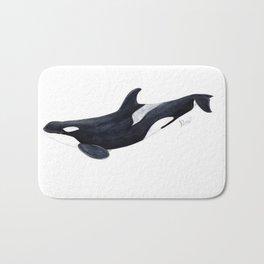 Orca killer whale Bath Mat