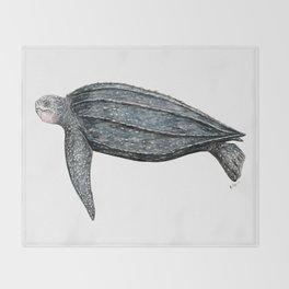 Leatherback turtle (Dermochelys coriacea) Throw Blanket