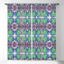 Green and Blue Trees Blackout Curtain