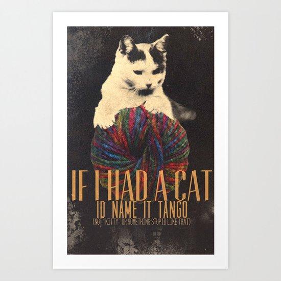 Original Pet Names Art Print