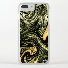 No. 10, Marble Clear iPhone Case