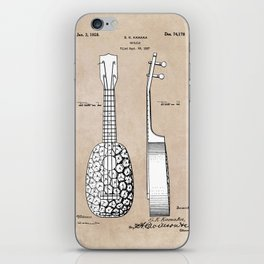 patent art Kamaka Ukulele 1927 iPhone Skin