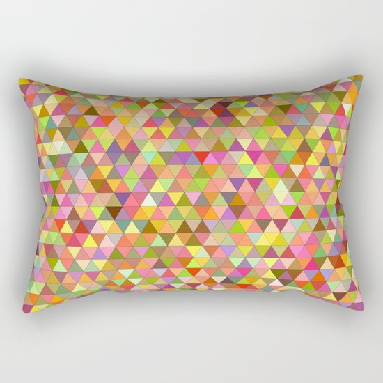 Happy summer triangles Rectangular Pillow