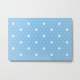 Delicate Flower Pattern Metal Print