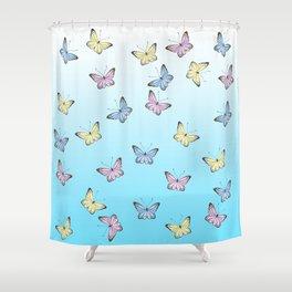 Rainbow Butteflies Shower Curtain