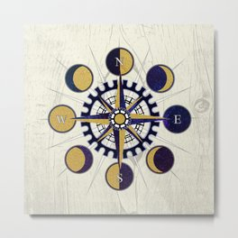 Solar Compass Metal Print