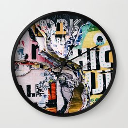 The Wild Posters (Color) Wall Clock