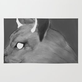 CAT WITH HORNS Rug