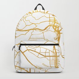 PORTLAND OREGON CITY STREET MAP ART Backpack