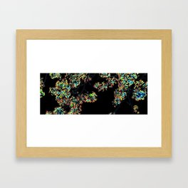 Mismatch Color Hatch Framed Art Print