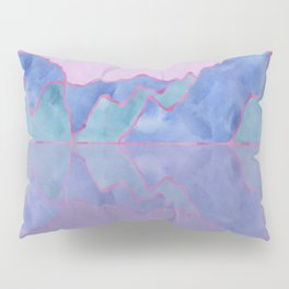 Mountain Reflection in Water - Pastel Palette Pillow Sham