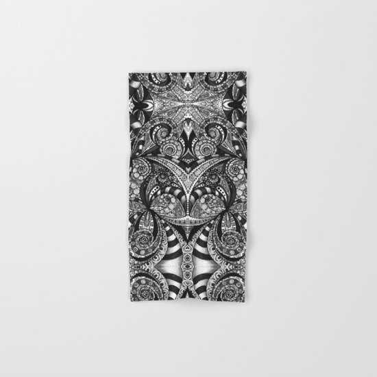 Drawing Floral Zentangle G6B Hand & Bath Towel