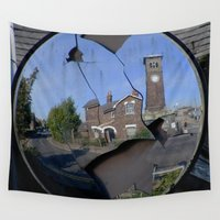 cracked Wall Tapestries featuring Mirror Cracked by Valann