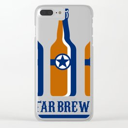 Beer bottles star bre Clear iPhone Case